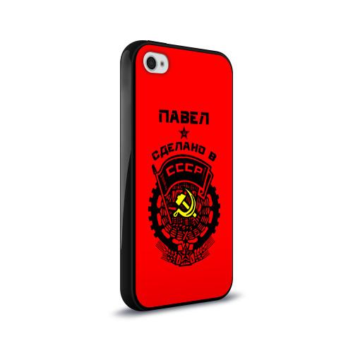Чехол для Apple iPhone 4/4S силиконовый глянцевый  Фото 02, Павел - сделано в СССР