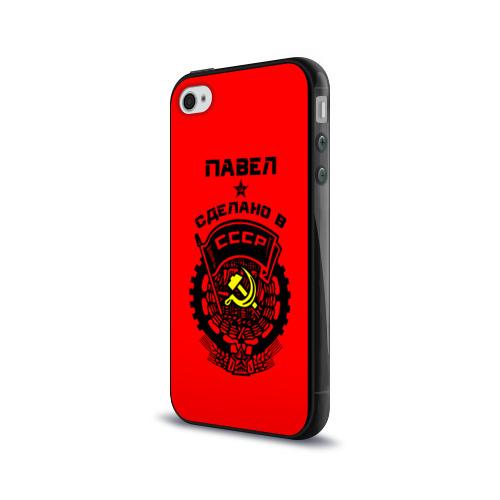 Чехол для Apple iPhone 4/4S силиконовый глянцевый  Фото 03, Павел - сделано в СССР