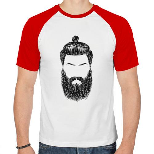 Мужская футболка реглан  Фото 01, Борода барбер