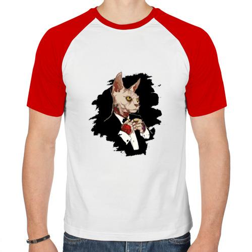 Мужская футболка реглан  Фото 01, Сфинкс на стиле SWAG