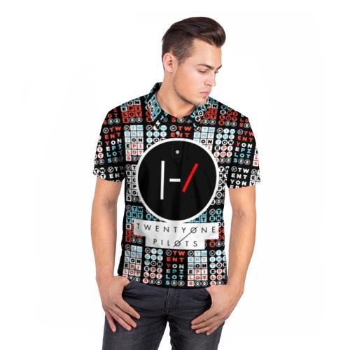 Мужская рубашка поло 3D  Фото 05, Twenty One Pilots