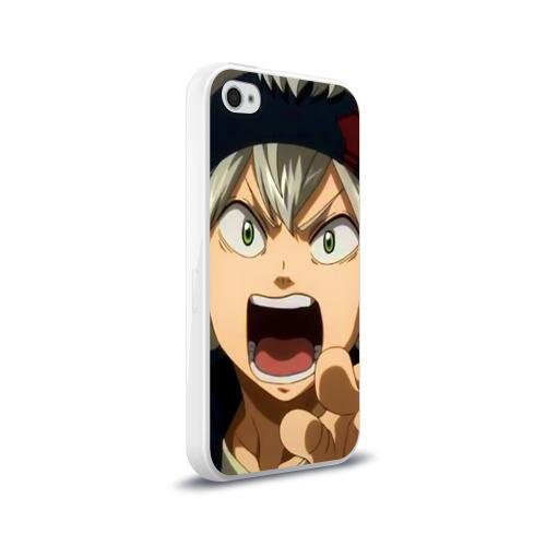 Чехол для Apple iPhone 4/4S силиконовый глянцевый  Фото 02, Black Clover