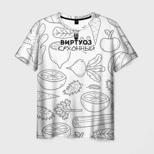 Мужская футболка 3D  Фото 01, Кухонный Виртуоз