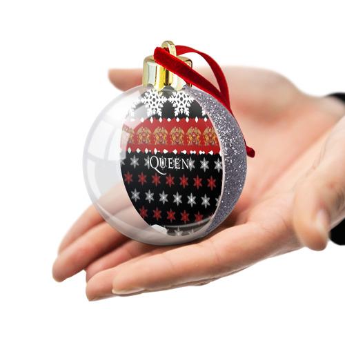 Ёлочный шар с блестками  Фото 03, Праздничный Queen