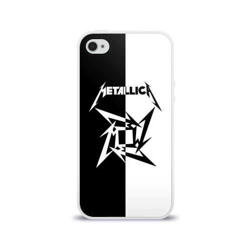 Чехол для Apple iPhone 4/4S силиконовый глянцевый  Фото 01, Metallica