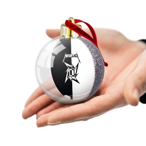 Ёлочный шар с блестками  Фото 03, Metallica