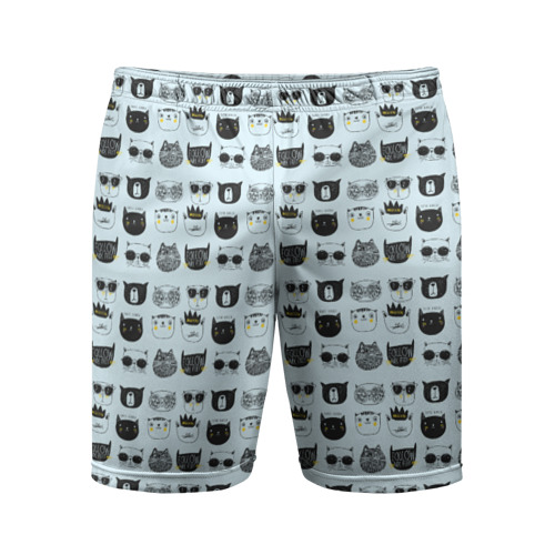 Мужские шорты 3D спортивные  Фото 01, Крутые котишки