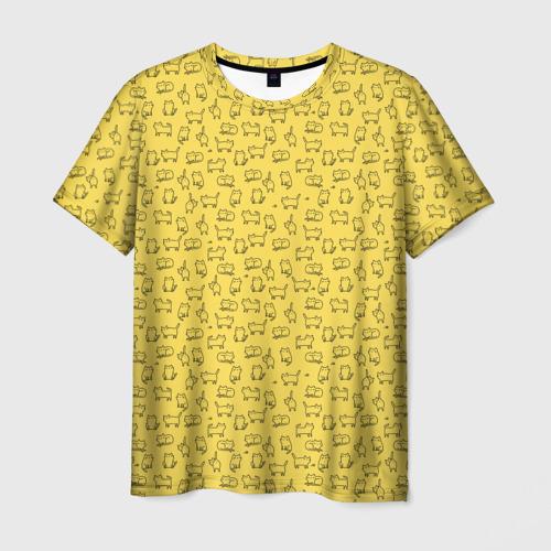 Мужская футболка 3D  Фото 01, котики