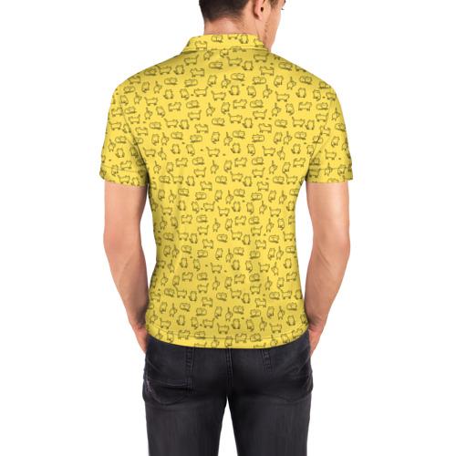 Мужская рубашка поло 3D  Фото 04, котики