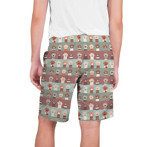 Мужские шорты 3D  Фото 02, Кошачьи лапки