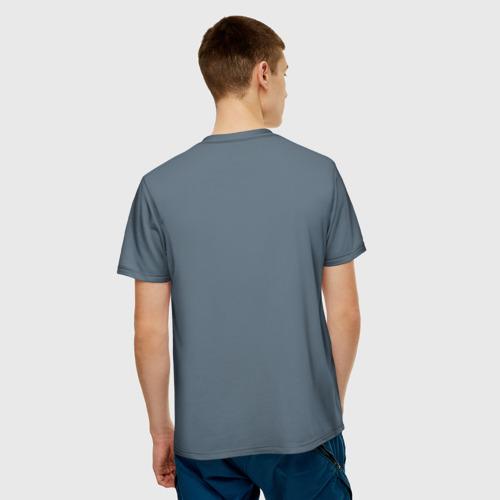 Мужская футболка 3D  Фото 02, Скелетон на скутере