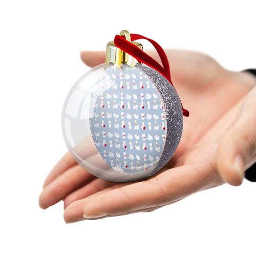 Ёлочный шар с блестками  Фото 03, Котятки