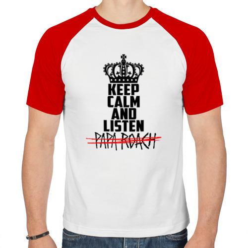 Мужская футболка реглан  Фото 01, Keep calm and listen Papa Roach