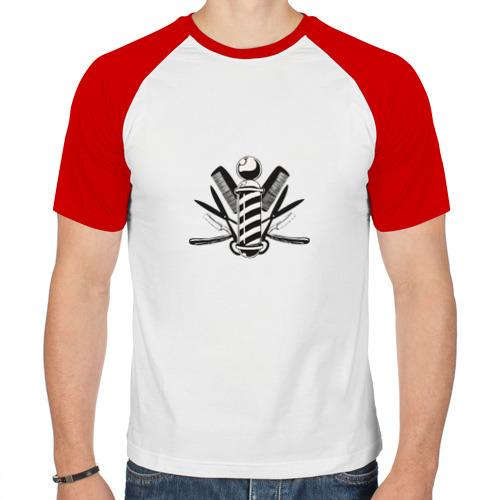 Мужская футболка реглан  Фото 01, Barber pole
