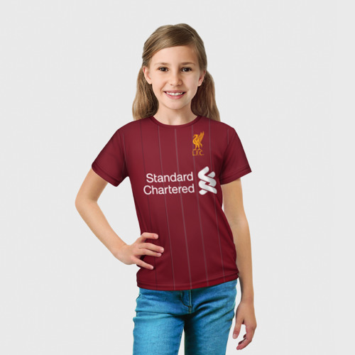 Детская футболка 3D  Фото 03, M.Salah home 17-18