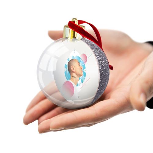 Ёлочный шар с блестками  Фото 03, Oxxxy 1703 light