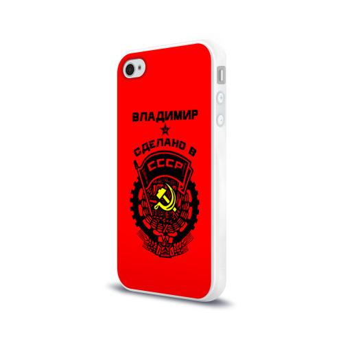 Чехол для Apple iPhone 4/4S силиконовый глянцевый  Фото 03, Владимир - сделано в СССР