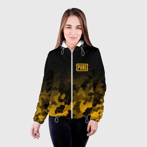 Женская куртка 3D  Фото 03, PUBG Military