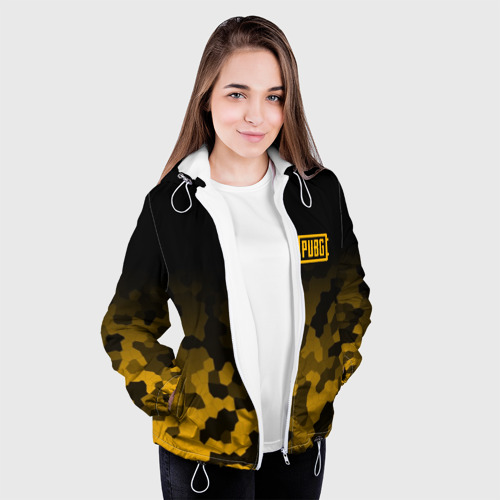 Женская куртка 3D  Фото 04, PUBG Military