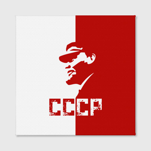 Холст квадратный  Фото 02, Ленин СССР