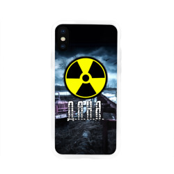 Чехол для Apple iPhone X силиконовый глянцевыйS.T.A.L.K.E.R. - Д.А.Н.Я.
