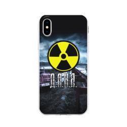 Чехол для Apple iPhone X силиконовый матовыйS.T.A.L.K.E.R. - Д.А.Н.Я.