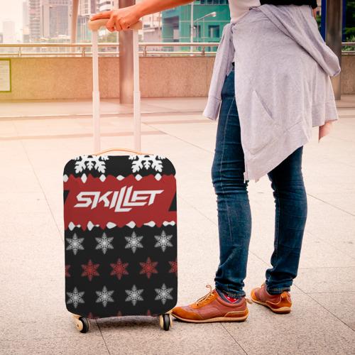 Чехол для чемодана 3D  Фото 04, Праздничный Skillet