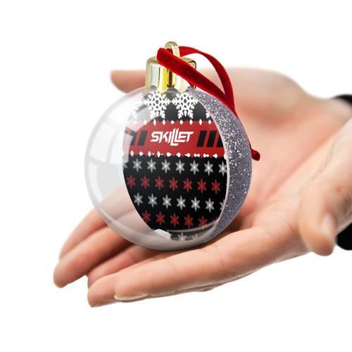 Ёлочный шар с блестками  Фото 03, Праздничный Skillet