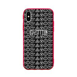 Чехол для Apple iPhone X силиконовый матовыйLed Zeppelin