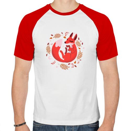 Мужская футболка реглан  Фото 01, Лиса