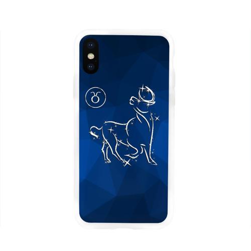 Чехол для Apple iPhone X силиконовый глянцевый Телец