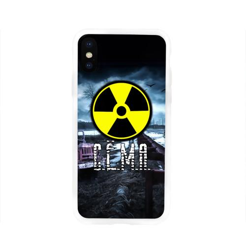 Чехол для Apple iPhone X силиконовый глянцевый S.T.A.L.K.E.R. - С.Ё.М.А.