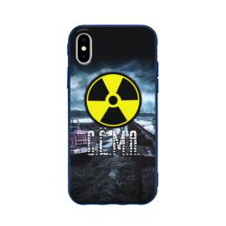 Чехол для Apple iPhone X силиконовый матовыйS.T.A.L.K.E.R. - С.Ё.М.А.
