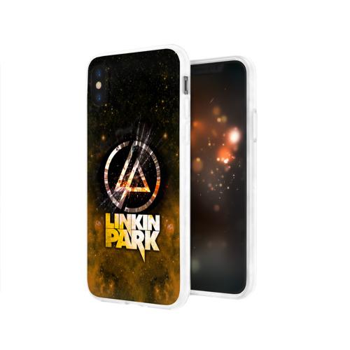 Чехол для Apple iPhone X силиконовый глянцевый  Фото 03, Linkin Park космос