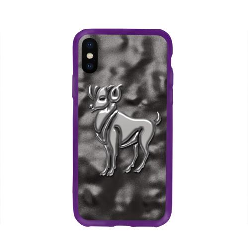 Чехол для Apple iPhone X силиконовый глянцевый Овен