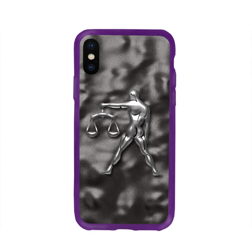 Чехол для Apple iPhone X силиконовый глянцевый Весы