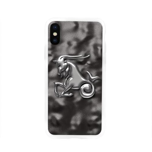 Чехол для Apple iPhone X силиконовый глянцевый Козерог