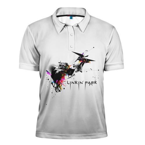 Мужская рубашка поло 3D  Фото 01, Linkin Park