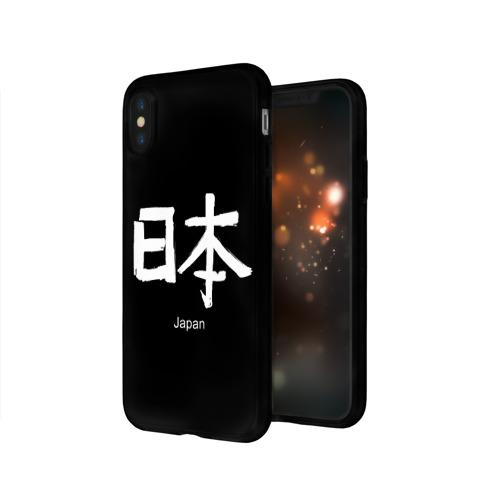 Чехол для Apple iPhone X силиконовый глянцевый symbol Japan Фото 01
