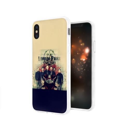 Чехол для Apple iPhone X силиконовый глянцевый  Фото 03, Группа Linkin Park