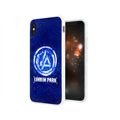 Чехол для Apple iPhone X силиконовый глянцевый  Фото 03, Linkin Park