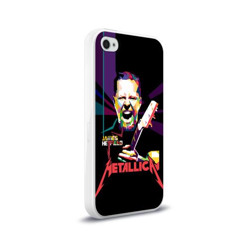 Чехол для Apple iPhone 4/4S силиконовый глянцевый  Фото 02, Metallica James Alan Hatfield