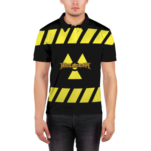 Мужская рубашка поло 3D Megadeth