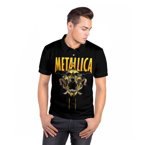 Мужская рубашка поло 3D  Фото 05, Metallica