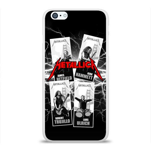 Чехол для Apple iPhone 6Plus/6SPlus силиконовый глянцевый  Фото 01, Metallica