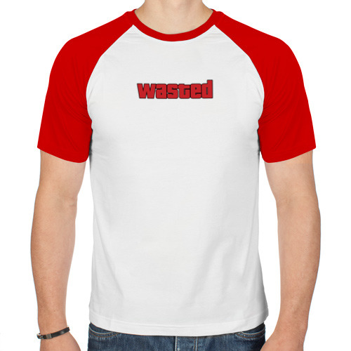 Мужская футболка реглан  Фото 01, wasted