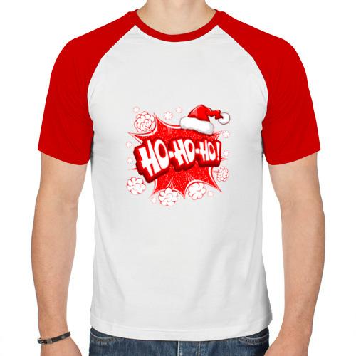 Мужская футболка реглан  Фото 01, HO-HO-HO