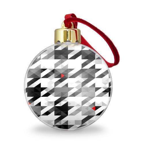 Ёлочный шар с блестками  Фото 01, gray geometry collection