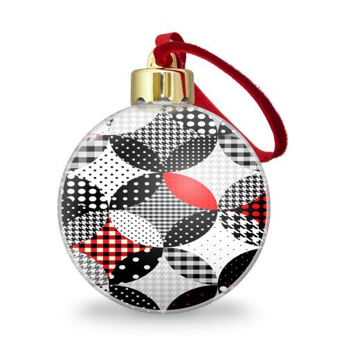 Ёлочный шар с блестками  Фото 01, Вышивка стиль геометрия