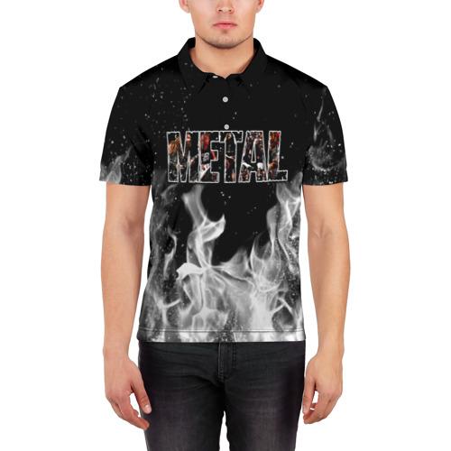 Мужская рубашка поло 3D  Фото 03, Metal